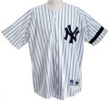 Baseball Collectibles:Uniforms, 1996 Wade Boggs Game Worn New York Yankees Jersey....