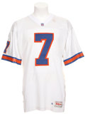 Football Collectibles:Uniforms, 1995 John Elway Game Worn Denver Broncos Jersey....
