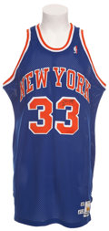 Basketball Collectibles:Uniforms, 1990-91 Patrick Ewing Game Worn New York Knicks Jersey....