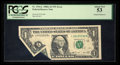 Error Notes:Foldovers, Fr. 1916-L $1 1988A Federal Reserve Note. PCGS About New 53.. ...