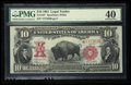Large Size:Legal Tender Notes, Fr. 122* $10 1901 Legal Tender PMG Extremely Fine 40.. ...