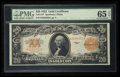 Large Size:Gold Certificates, Fr. 1187 $20 1922 Gold Certificate PMG Gem Uncirculated 65 EPQ.....