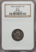 Early Dimes, 1805 10C 4 Berries VF25 NGC. JR-2, R.2....