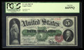 Large Size:Legal Tender Notes, Fr. 63a $5 1863 Legal Tender PCGS Gem New 66PPQ.. ...
