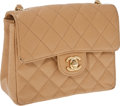 Luxury Accessories:Bags, Chanel Beige Caviar Leather Small Flap Bag with Gold Hardware. ...