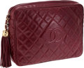 Luxury Accessories:Bags, Chanel Oversize Wine Lambskin Leather Camera Bag with Tassel. ...
