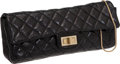 Luxury Accessories:Bags, Chanel Black Antique Quilted Leather East-West Single FlapMademoiselle Clutch with Wire Strap. ...