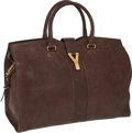 Luxury Accessories:Bags, Yves St Laurent Tobacco Leather Cabas Chyc Extra-Wide Tote. ...