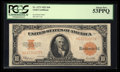 Large Size:Gold Certificates, Fr. 1173 $10 1922 Gold Certificate PCGS About New 53PPQ.. ...