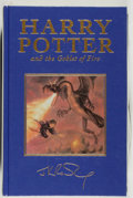 Books:Science Fiction & Fantasy, J. K. Rowling. Harry Potter and the Goblet of Fire. London: Bloomsbury, 2000. Deluxe first edition still in the publisher's ...