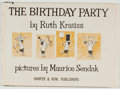 Books:Children's Books, [Maurice Sendak]. Ruth Krauss. The Birthday Party. New York:Harper & Row, 1957. Later edition. Illustrated by Mauri...