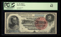 Large Size:Silver Certificates, Fr. 242 $2 1886 Silver Certificate PCGS New 62.. ...