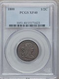 1800 1/2 C XF40 PCGS. PCGS Population (21/110). NGC Census: (12/104). Mintage: 202,908. Numismedia Wsl. Price for proble...