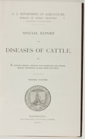 Books:Americana & American History, [Animal Husbandry]. U. S. Department of Agriculture. SpecialReport on Diseases of Cattle. Washington: Government Pr...