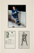Hockey Collectibles:Photos, 1966-67 Toronto Maple Leafs Greats Signed Media Guide Pages Lot of6....