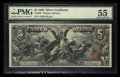 Large Size:Silver Certificates, Fr. 268 $5 1896 Silver Certificate PMG About Uncirculated 55.. ...