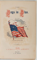 """Books:Americana & American History, [Civil War]. Mrs. A. H. Hoge. The Boys in Blue; or Heroesof the """"Rank and File."""" New York: Treat, 1867. First e..."""