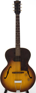 Musical Instruments:Electric Guitars, 1958 Gibson ES-125T Sunburst Semi-Hollow Body Electric Guitar,Serial # T59527....