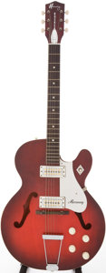 Musical Instruments:Electric Guitars, 1966 Harmony Rocket Red Sunburst Semi-Hollow Body Electric Guitar, Serial # 3959H54...