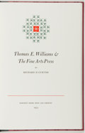 Books:Books about Books, Richard D. Curtiss. SIGNED/LIMITED. Thomas E. Williams & TheFine Arts Press. Los Angeles: Dawson's Book Shop, 1...