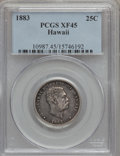 Coins of Hawaii, 1883 25C Hawaii Quarter XF45 PCGS. PCGS Population (90/1402). NGCCensus: (23/988). Mintage: 500,000. (#10987)...