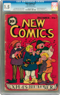 Golden Age (1938-1955):Non-Fiction, New Comics #11 (DC, 1936) CGC FR/GD 1.5 Cream to off-whitepages....