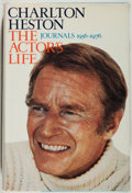 Books:Biography & Memoir, Charlton Heston. SIGNED. The Actor's Life. Journals 1956-1976. NewYork: Henry Robbins/E. P. Dutton, 1978. First edition. ...