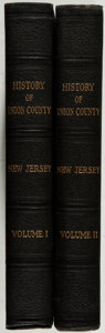Books:Americana & American History, A. Van Doren Honeyman [editor]. History of Union County, NewJersey 1664-1923. New York: Lewis Historical Publis... (Total:2 Items)