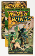 Golden Age (1938-1955):War, Wings Comics #62 and 66-69 Group (Fiction House, 1945-46)....(Total: 5 Comic Books)