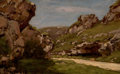 Fine Art - Painting, European:Antique  (Pre 1900), JOSÉ WEISS (French, 1859-1919). Path through a RockyLandscape. Oil on panel. 6-3/4 x 10-3/4 inches (17.1 x 27.3cm). Si...