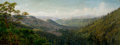Fine Art - Painting, American:Antique  (Pre 1900), Attributed to THADDEUS WELCH (American, 1844-1919). PanoramicMountain Landscape. 14 x 36 inches (35.6 x 91.4 cm). THE...