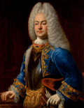 Paintings, JOHANN CONRAD EICHLER (German, 1688-1748). Portrait of a Prince Georg Albrecht of East Friesland, 1718. Oil on canvas. 3...