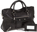 Luxury Accessories:Bags, Balenciaga Very Rare Black Matte Crocodile Classic City Bag withSilver Hardware. ...