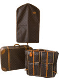 Luxury Accessories:Travel/Trunks, Set of Three: Louis Vuitton by French Co Suitcase, Large GarmentBag, and Small Garment Bag . ... (Total: 3 Items)