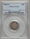 Barber Dimes: , 1895-O 10C VG10 PCGS. PCGS Population (28/194). NGC Census:(9/103). Mintage: 440,000. Numismedia Wsl. Price for problem fr...