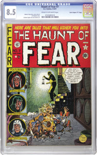 """Haunt of Fear #7 Davis Crippen (""""D"""" Copy) pedigree (EC, 1951) CGC VF+ 8.5 Cream to off-white pages. This issue..."""