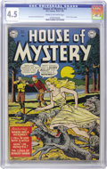 Golden Age (1938-1955):Horror, House of Mystery #1 (DC, 1952) CGC VG+ 4.5 Cream to off-whitepages. DC's first horror title began in 1952 and ran for over ...
