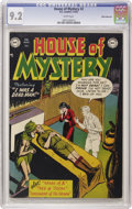 Golden Age (1938-1955):Horror, House of Mystery #2 White Mountain pedigree (DC, 1952) CGC NM- 9.2White pages. When it comes to pre-Code horror books, the ...