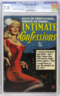 "Golden Age (1938-1955):Romance, Intimate Confessions #1 Davis Crippen (""D"" Copy) pedigree(Realistic Comics, 1951) CGC FN/VF 7.0 Off-white to white pages.D..."