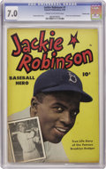 Golden Age (1938-1955):Non-Fiction, Jackie Robinson #nn (#1) Crowley Copy pedigree (Fawcett, 1950) CGCFN/VF 7.0 Cream to off-white pages. This debut issue feat...