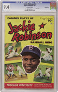 Golden Age (1938-1955):Miscellaneous, Jackie Robinson #6 Crowley Copy pedigree (Fawcett, 1952) CGC NM 9.4 Off-white pages. The man who broke baseball's color barr...
