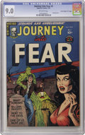 "Golden Age (1938-1955):Horror, Journey Into Fear #2 Davis Crippen (""D"" Copy) pedigree (Superior,1951) CGC VF/NM 9.0 Off-white pages. This pre-Code horror ..."
