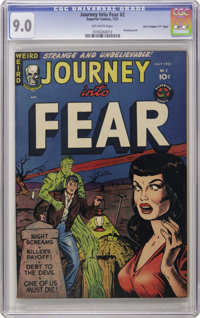 """Journey Into Fear #2 Davis Crippen (""""D"""" Copy) pedigree (Superior, 1951) CGC VF/NM 9.0 Off-white pages. This pr..."""