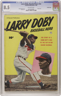 Larry Doby, Baseball Hero #nn - Crowley Copy pedigree (Fawcett, 1950) CGC VF+ 8.5 Off-white pages. A photo cover and a b...