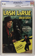 Golden Age (1938-1955):Western, Lash LaRue Western #1 Crowley Copy pedigree (Fawcett, 1949) CGC NM9.4 Cream to off-white pages. Lash and Black Diamond begi...