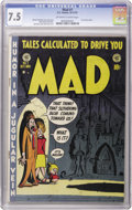 Golden Age (1938-1955):Humor, Mad #1 (EC, 1952) CGC VF- 7.5 Off-white to white pages. It wouldn't be a Heritage auction if we didn't have a copy of this h...