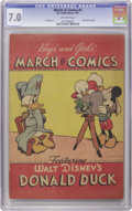 Golden Age (1938-1955):Funny Animal, March of Comics #nn (#4) Donald Duck (K. K. Publications, Inc., 1947) CGC FN/VF 7.0 Off-white pages. This scarce giveaway co...