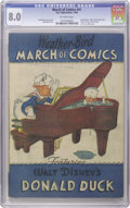 "Golden Age (1938-1955):Funny Animal, March of Comics #41 Donald Duck (K. K. Publications, Inc., 1949)CGC VF 8.0 Off-white pages. Featuring the ""Race to the Sout..."