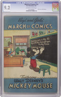 Golden Age (1938-1955):Funny Animal, March of Comics #74 Mickey Mouse (K. K. Publications, Inc., 1951)CGC NM- 9.2 Off-white to white pages. Mickey Mouse stars i...