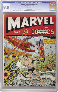 Marvel Mystery Comics #22 Larson pedigree (Timely, 1941) CGC VF/NM 9.0 Off-white pages. It seems that Lamont Larson's Ti...